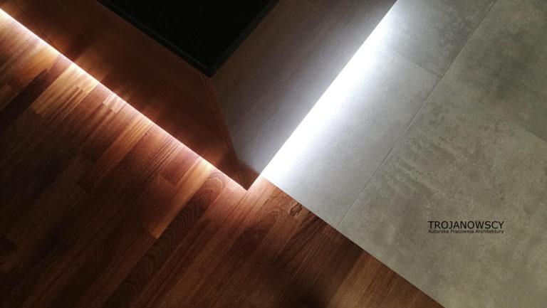podświetlenie LED pod lustrem
