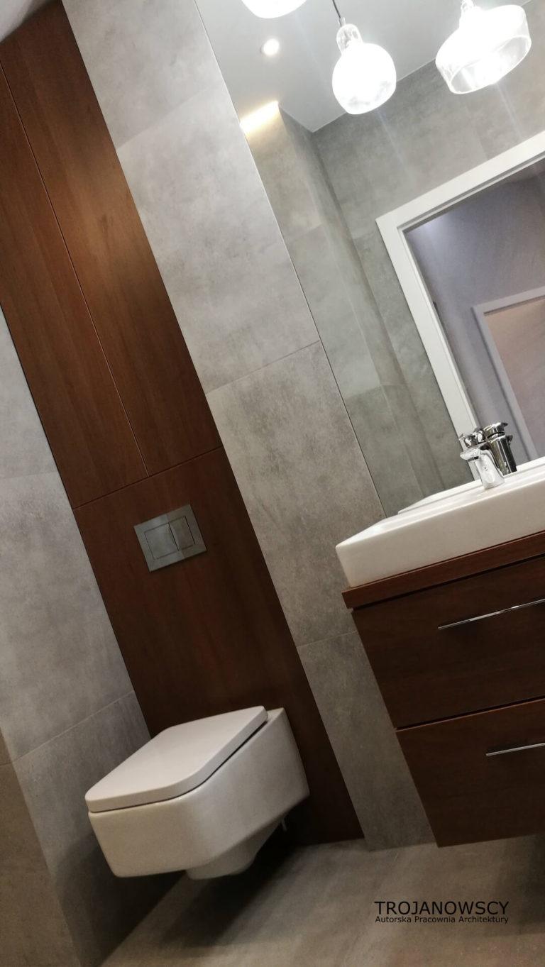 minimalistyczna łazienka z wc