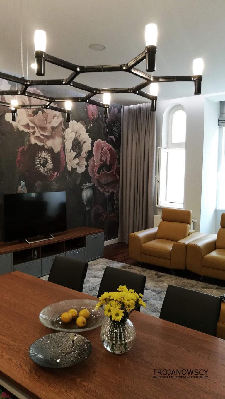 dekoracje w salonie aranżacja wnętrza apartamentu w kamienicy