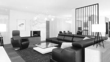 Projekt wnętrza domu piętrowego 290 m² w Bydgoszczy