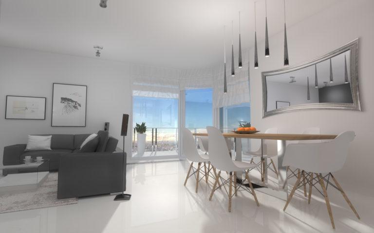 Aranżacja wnętrz minimalistycznego apartamentu 92m2 Bydgoszcz