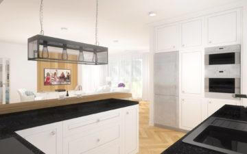 Projekt wnętrz domu jednorodzinnego 138m2 Czarne Błota