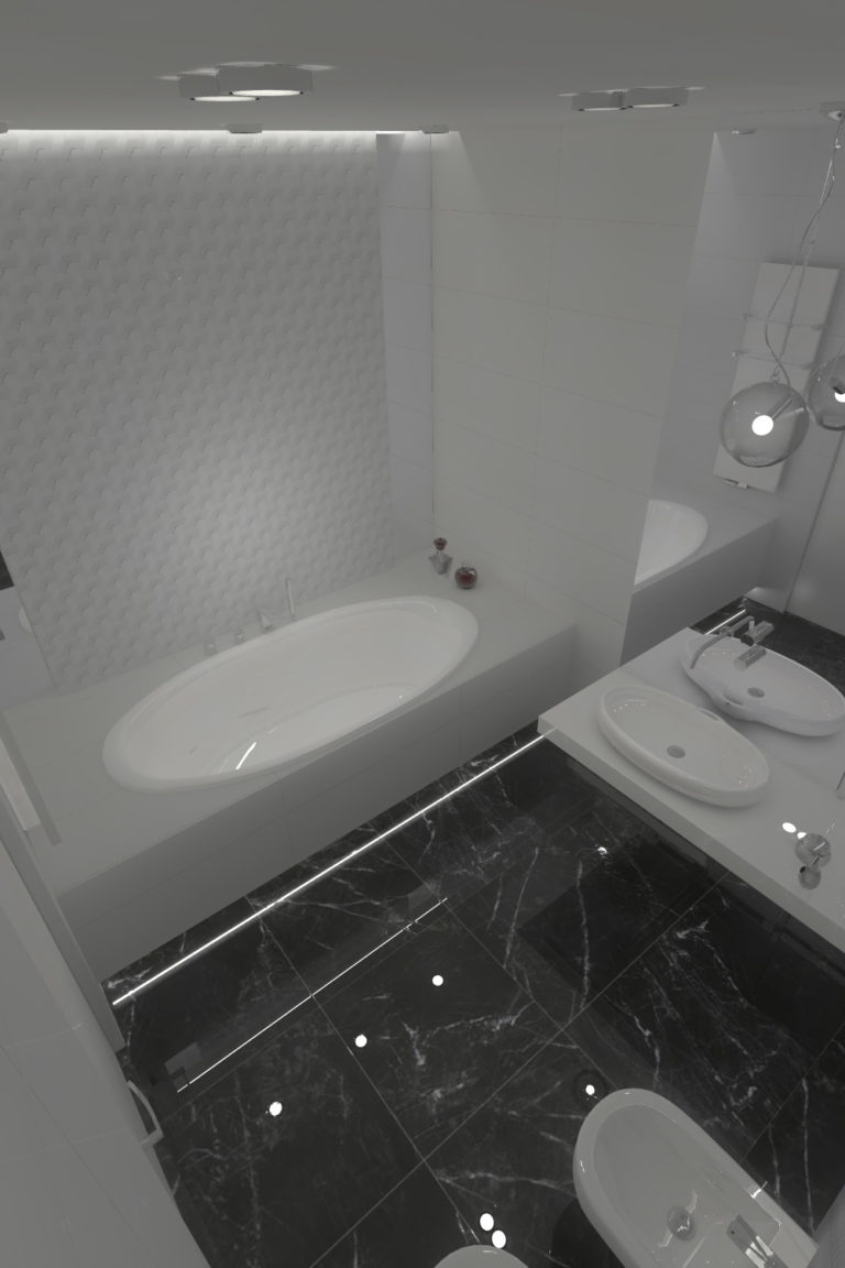 Projekt wnętrz domu jednorodzinnego 140m2 Poznań