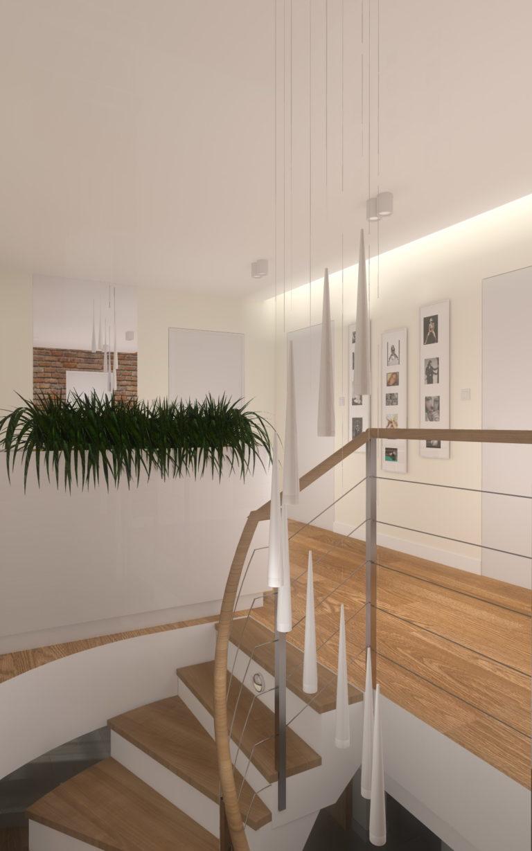 Projekt wnętrz domu jednorodzinnego 170m2 pod Toruniem