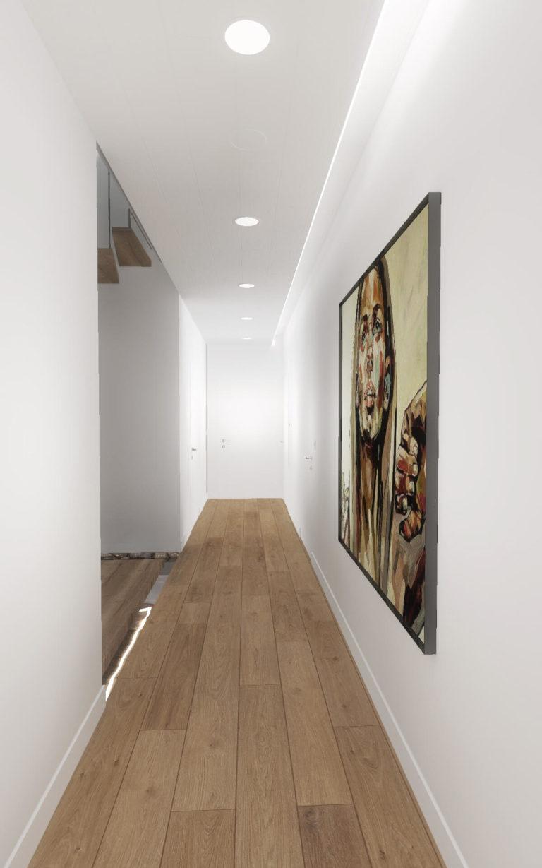 długi korytarz wizualizacja