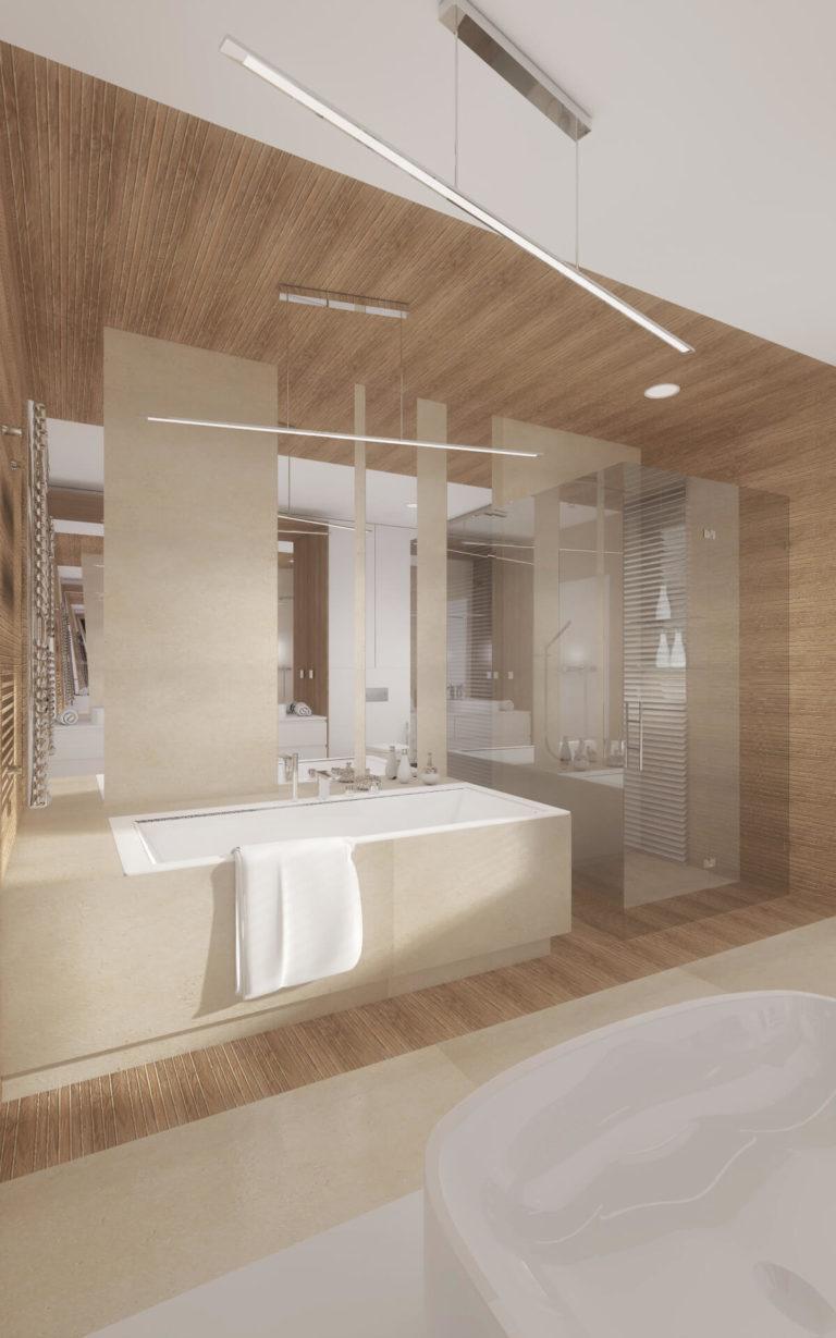 duży pokój kąpielowy