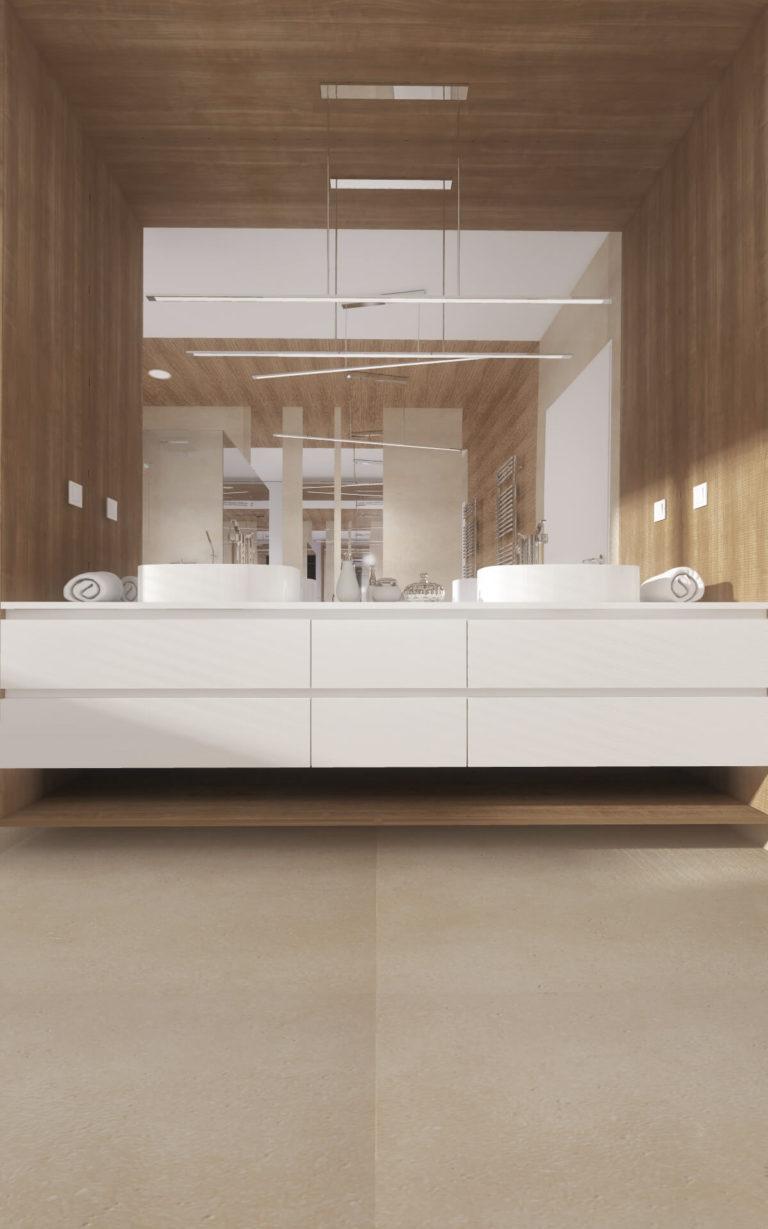 aranżacja dużej łazienki
