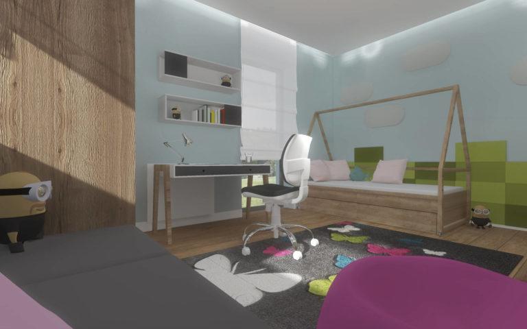 Projekt wnętrza domu, Włocławek pokój dla dziecka