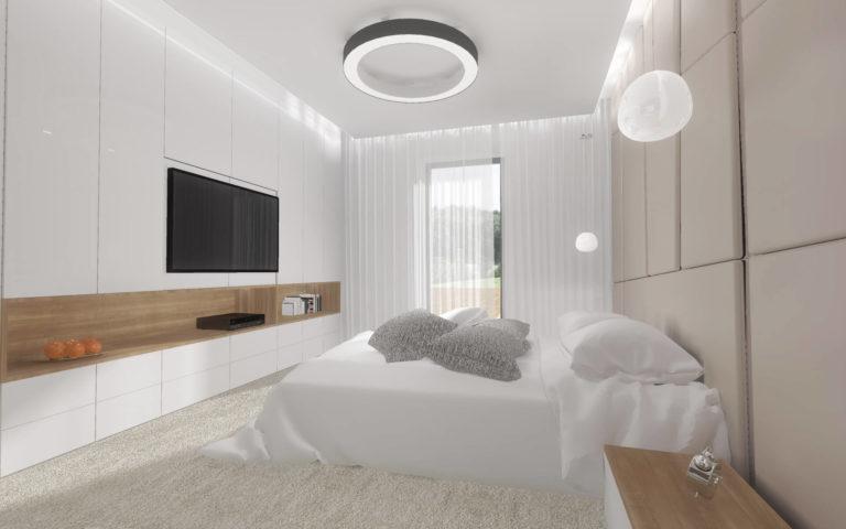 Projekt wnętrza sypialni, Włocławek