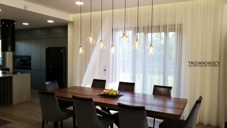 elegancka jadalnia stół na osiem osób