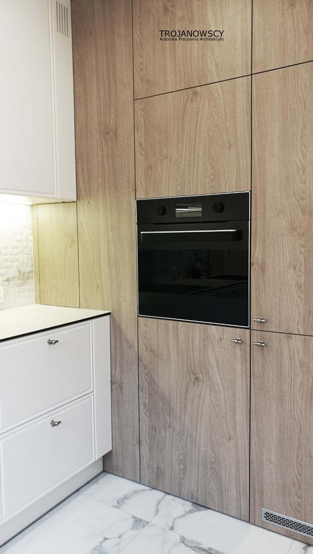 drewniana zabudowa kuchenna