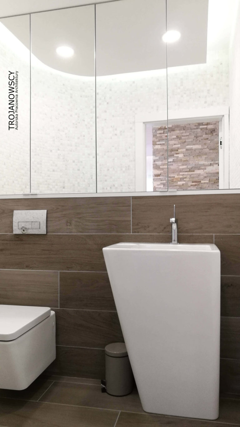 oryginalna umywalka łazienkowa trapezowa