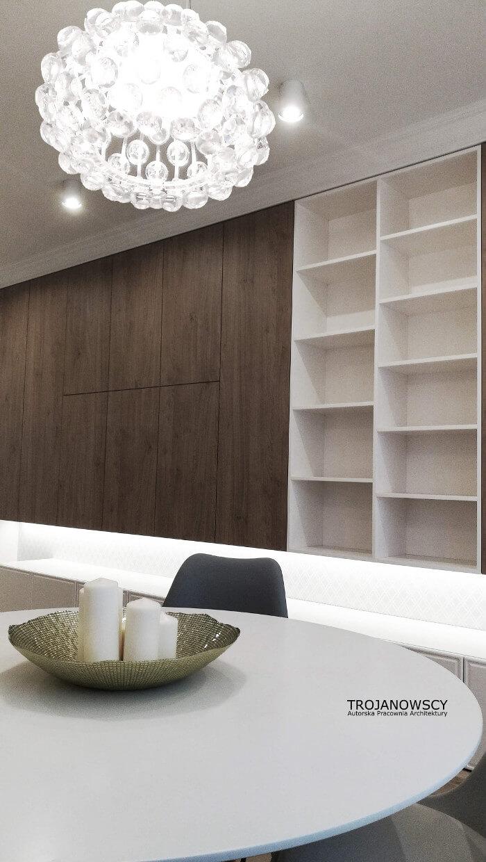 nowoczesna drewniana meblościanka