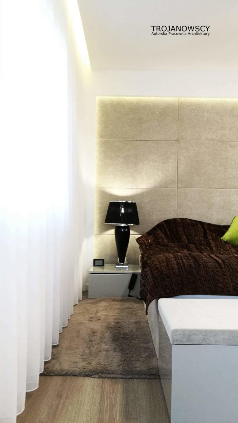 tapicerowane panele w sypialni