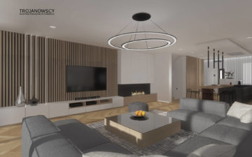 Dom 290 m2 aranżacja APA Trojanowscy