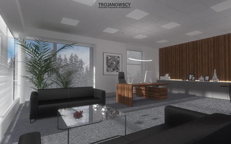 pomieszczenie biurowe projekt APA Trojanowscy