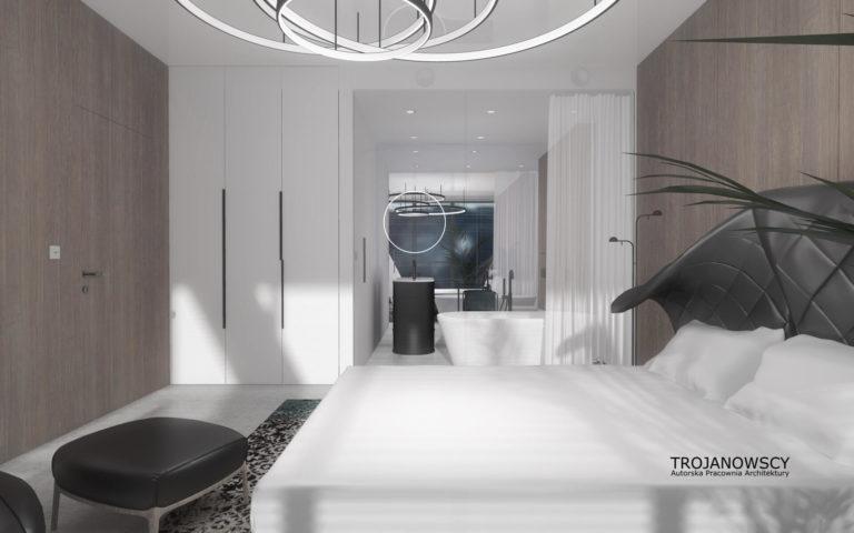 łóżko w apartamencie nordic haven