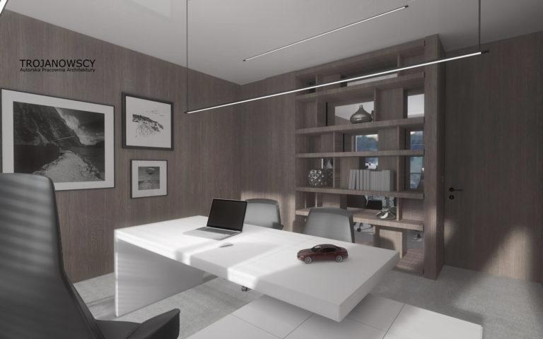 pokój biurowy w apartamencie