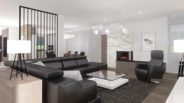 stylowy projekt salonu