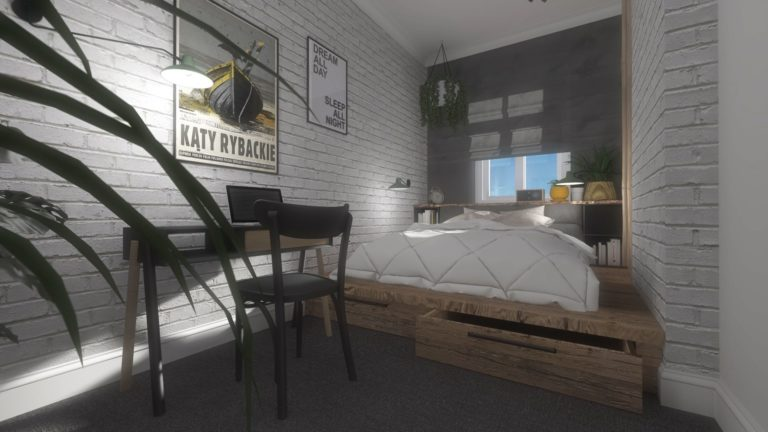 nowoczesna i przytulna sypialnia