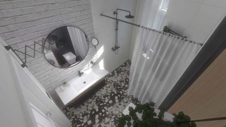 łazienka z lotu ptaka