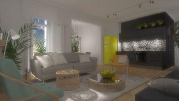 salon w mieszkaniu na Gimnazjalnej w Bydgoszczy