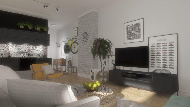 aranżacja nowoczesnego mieszkania na Gimnazjalnej