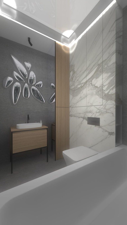 nowoczesne designerskie oryginalne lustro w łazience