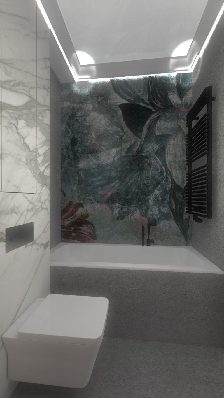 aranżacja łazienki wodoodporna tapeta