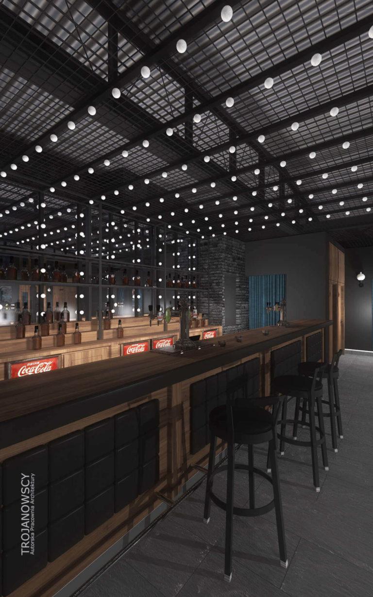 nowoczesny bar projekt klubu Point Club w Bydgoszczy