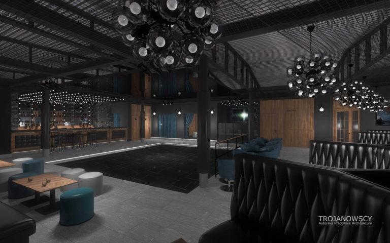 nowoczesny design aranżacja klubu nocnego