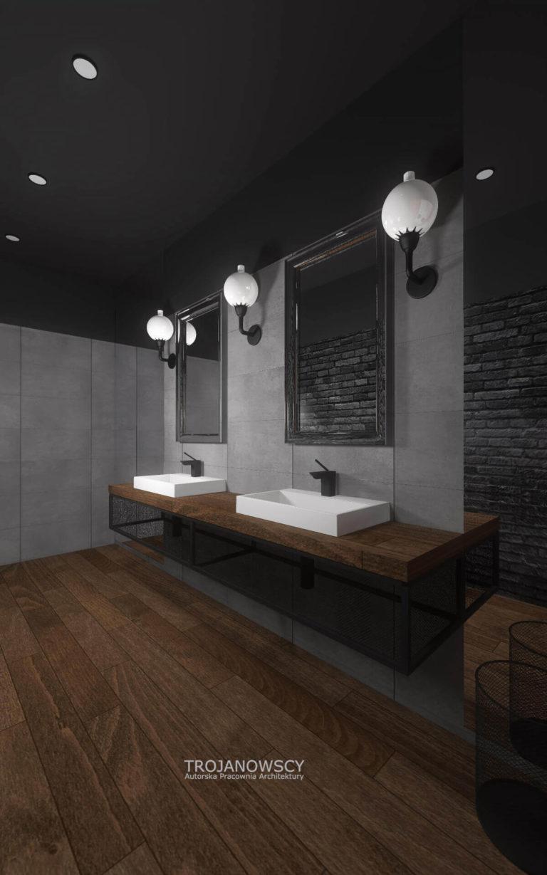aranżacja dużej łazienki w stylu minimalistycznym