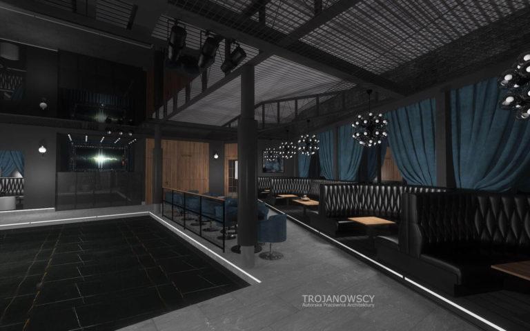 aranżacja parkietu w klubie Point Club w Bydgoszczy
