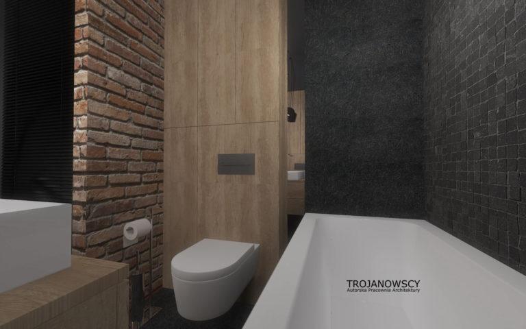 minimalistyczna aranżacja łazienki z wanną