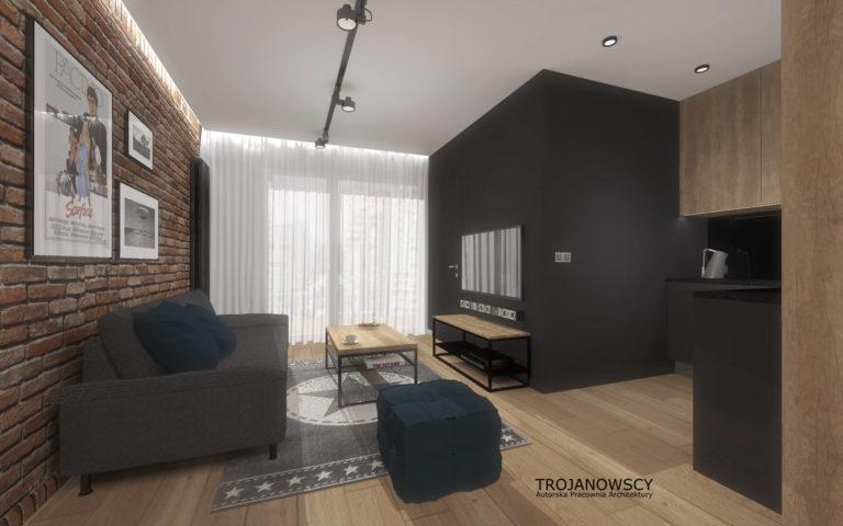 aranżacja małego mieszkania styl minimalistyczny