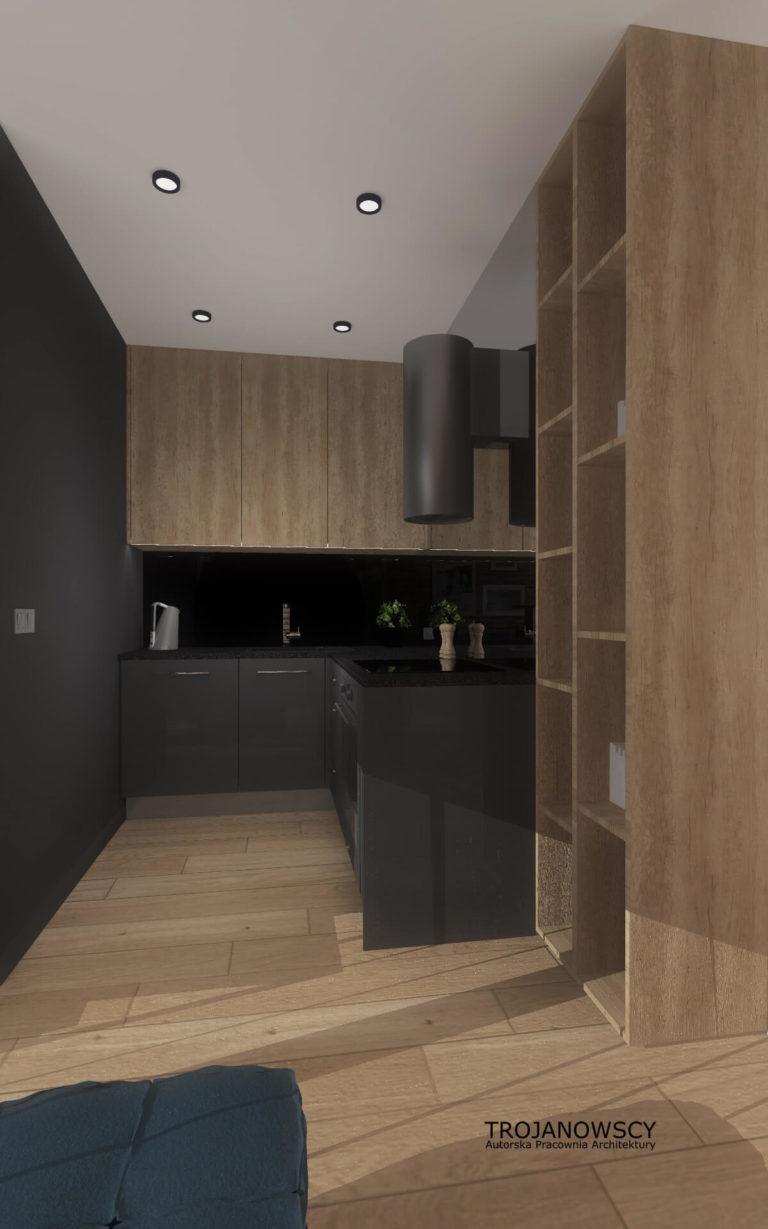projekt kuchni styl minimalistyczny