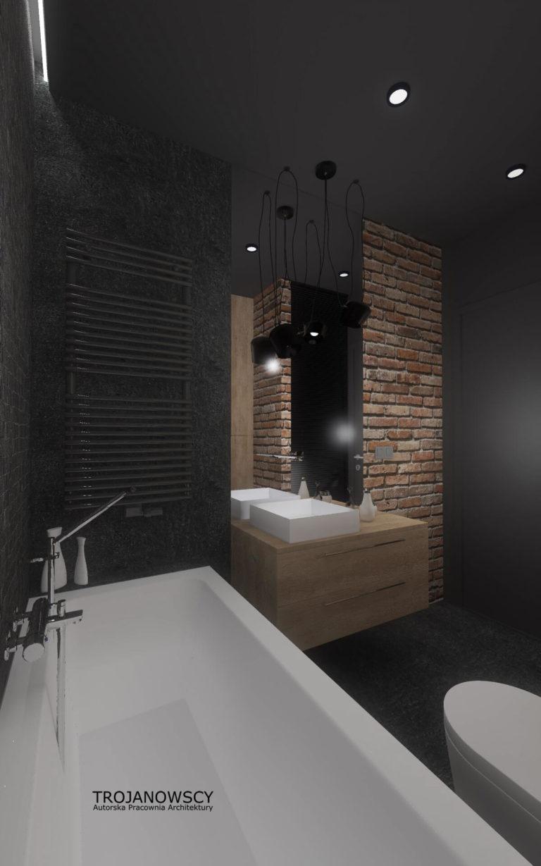 oryginalna łazienka w mieszkaniu
