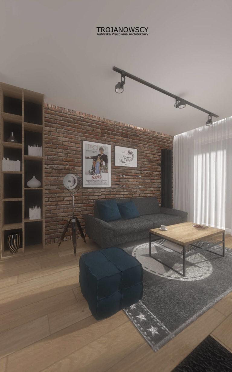 aranżacja wnętrza styl loftowy