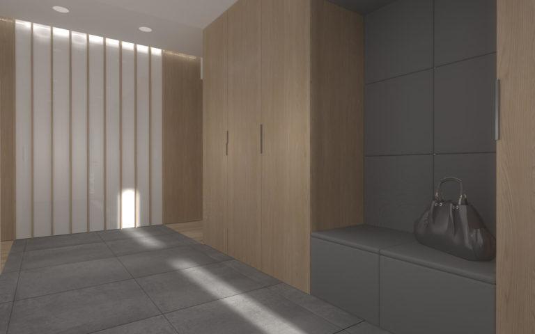 szafy w korytarzu