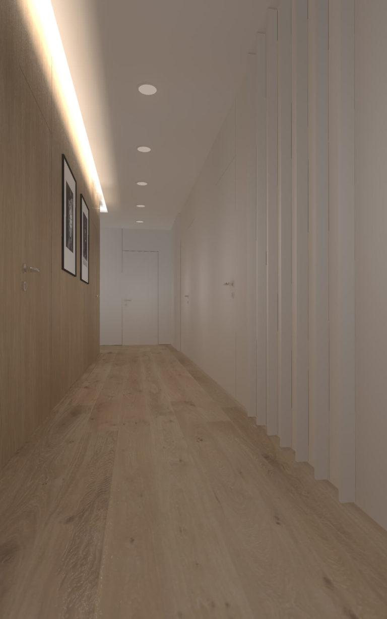 panele w korytarzu