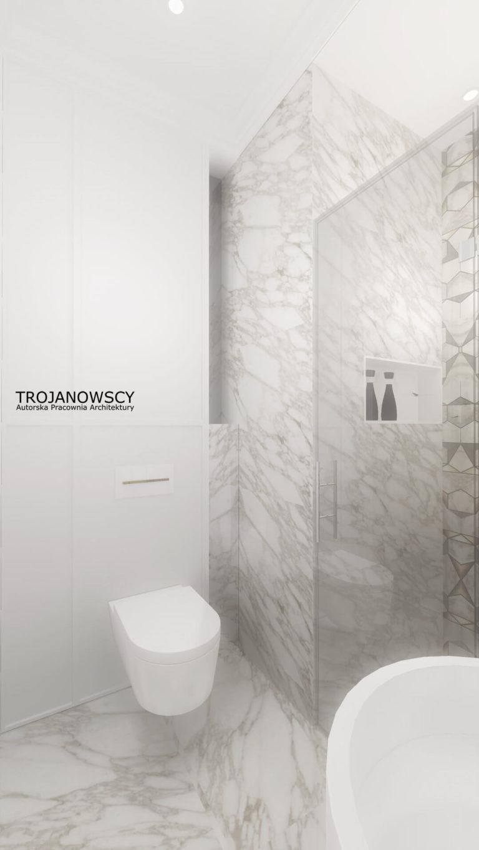 jasna minimalistyczna toaleta
