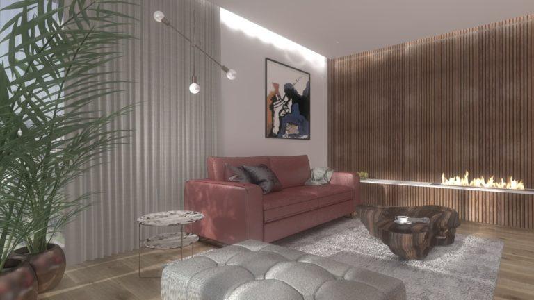 projekt i aranżacja salonu